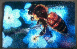 Completed Bee Rug